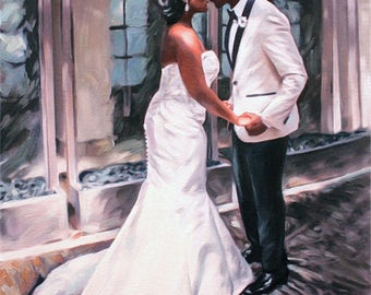 Anniversary Gift - Wedding Gift - Gift for Husband - Gift for Wife - Custom Painting - Personalized Art