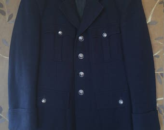 60s. Navy wool French fireman coat ( sapeurs pompiers)