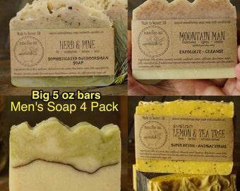 Men's Soap Sampler   Artisan Man Soap, Cool Guys Gift, Mens Natural Soap, Natural Man Soap, Natural Mens Soap, Good Gifts for Guys