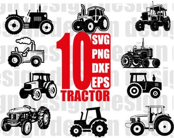 TRACTOR SVG, tractor clipart, construction vehicle, vehicle, farm tractor, farming vehicle, stencil, cut file, iron on, silhouette, decal