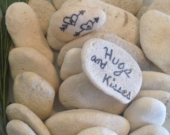 Guestbook Stones, 20 Beach Stones, Wedding Wishing Stones, Unique Wedding Guestbook, Wedding Stones, Wishing Rocks, Guestbook Alternative