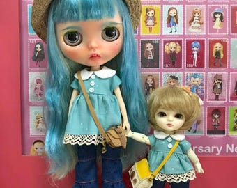 Patterns and English Instructions of Blouse and Denim Pants for Blythe
