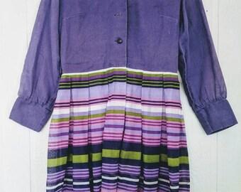 Vintage 1960's Striped Cotton Dress