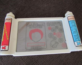 Vintage Ohio Art Etch A Sketch Activity Center Free Shipping