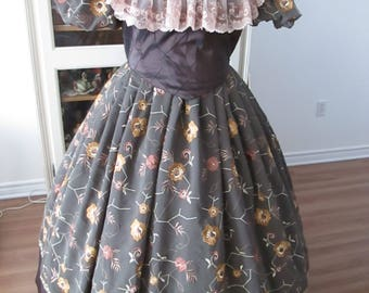 Civil War Ball Gown, 1860-1865 Women's Clothing ( Size XL) #NB-8