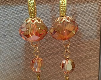 Gold Crystal with gold wire