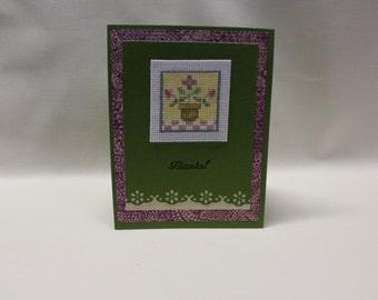 Thank you cross stitch card