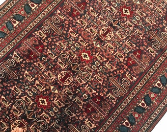 antique shirvan caucasian rug ( free shipping ) very fine and highly decorative caucasian shirvan rug, natural dye colours