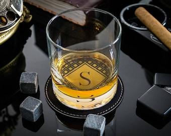 Groomsmen Gift - Personalized Whiskey Glasses - Custom Whiskey Rocks - Whiskey Stones - Wedding Gift - Engraved Whiskey Glass - Gift For Him