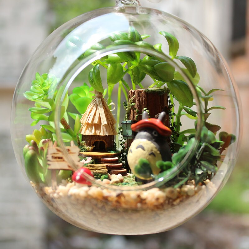 Diy Glass Ball Dollhouse Miniature Totoro Dollhouse Kit