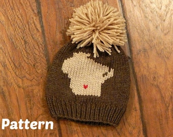 Wisconsin Hometown Knit Hat Pattern : Knitting Pattern, Baby Hat, Toddler Hat, Child Hat, Adult Hat