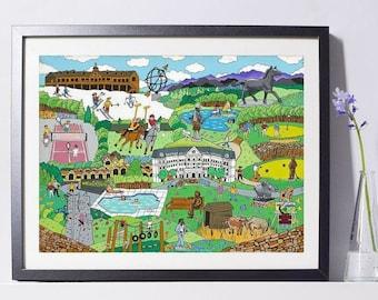 Resort & Sports Vacation Art Painting- Resort Gift - Vacation Art - Home Decor - Pat Singer's New York