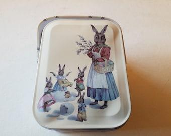 Bunny tin with handle