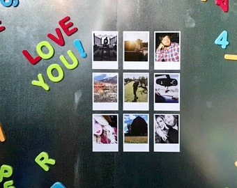 Custom Retro Style Photo Magnets Personalized With Your Photos! Polaroid Style Vintage Feel