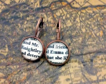 Emma and Mr. Knightley Literary Earrings Jane Austen
