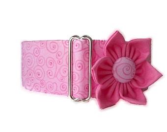 Pink Martingale Dog Collar, Pink Dog Collar, Large Dog Collar, Martingale Dog Collar 1.5 Inch, Greyhound Collar, Sighthound Collar