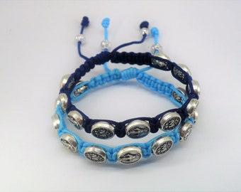 Miraculous medal bracelets, catholic bracelets, virgin st mary bracelet, christian gift, couples bracelet, religious jewelry, catholic gift