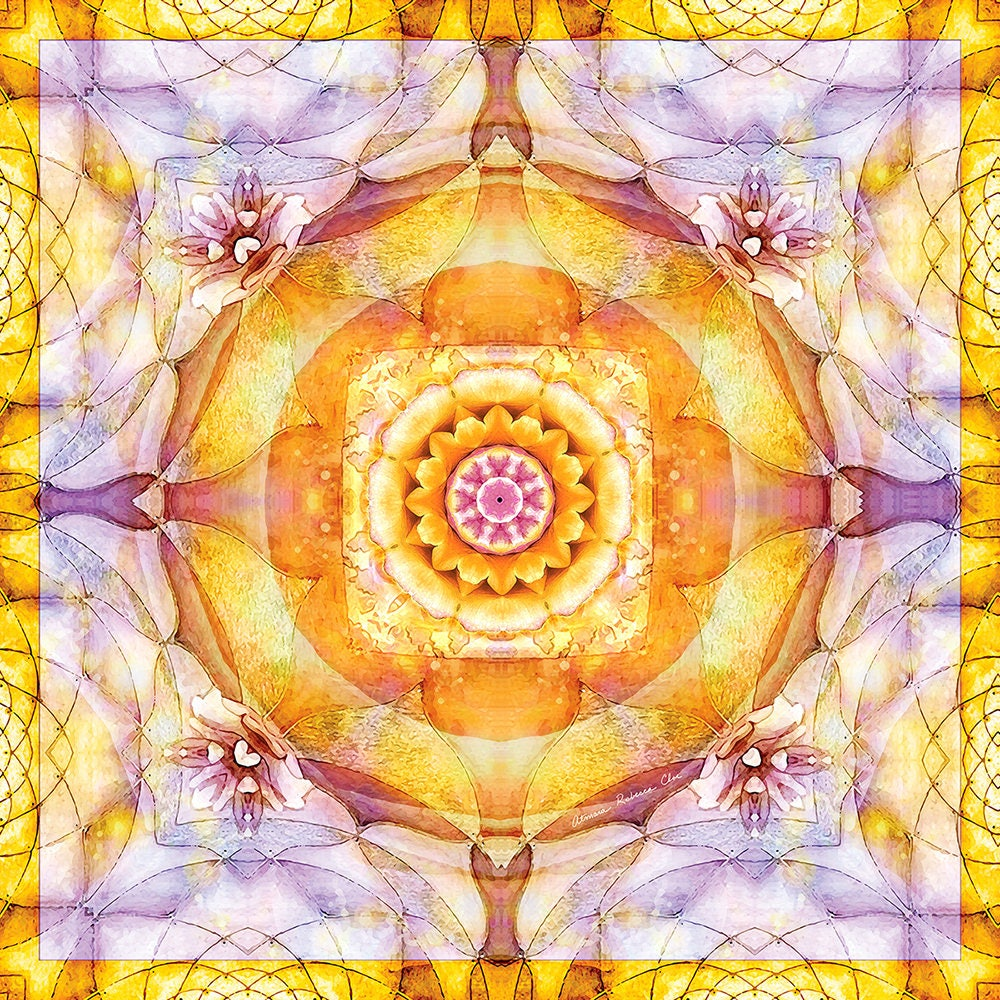 Mandala from the Heart of Change 20 Printable ArtWall