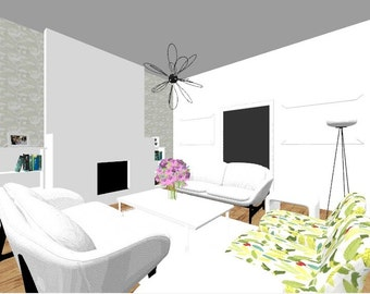 Living Room/ Sitting Room Design - E Design Service