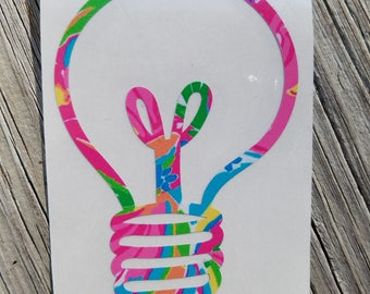 Lilly Inspired Lightbulb Vinyl Decal