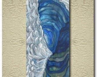 Iceworld - Original painted and stitched Silk Scroll