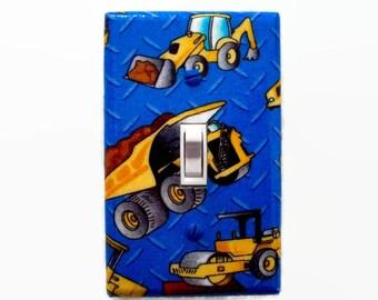 Truck Light Switch Cover - Trucks Switch Plate - Construction Trucks Decor -  Gift for Boys