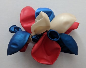 Red White and Blue, Balloon Hair Clip -- Free shipping