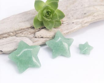 Star cabochons, Aventurine cabochons, Stone stars, Green stars, Loose cabochons, Stones for silver smiths, Cabochons, Loose stones, Stars