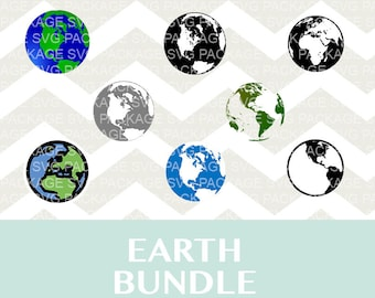 Earth SVG Bundle, Planet Earth bundle, Earth Clipart SVG, Png, Files for Silhouette Cameo, DXF, Cutting Files Svg, Planet png, planet svg,