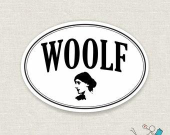 woolf vinyl sticker