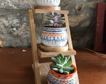 have faith in your journey succulent plant trio, let it be enough succulent pots, gardening gifts, long distance freindship gift, best