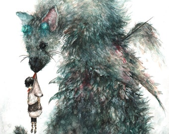 The last guardian limited edition giclee print