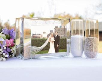 Personalized Glass Unity Wedding Sand Ceremony Set