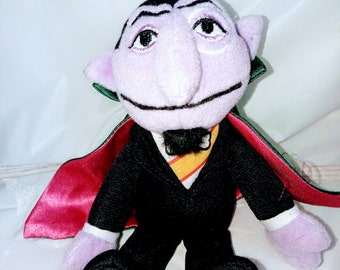 Sesame Street The Count Plush Aprox 7""