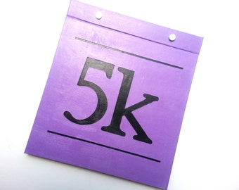 Race Bib Holder - 5k Race Cover - Hand-bound Book for Runners
