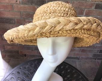 SCALA Hat - Straw Hat - Italian - Vintage Straw Hat