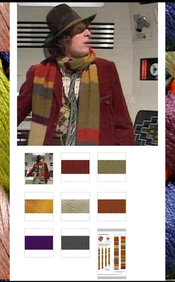 Dr Who 4th Doctor Scarf Yarn Kit
