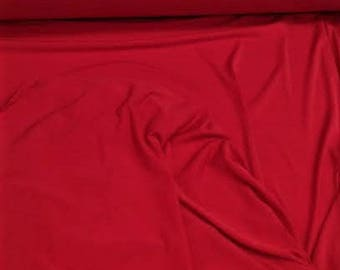 Jersey Red Fabric, Jersey Red Material Sold By the Yard