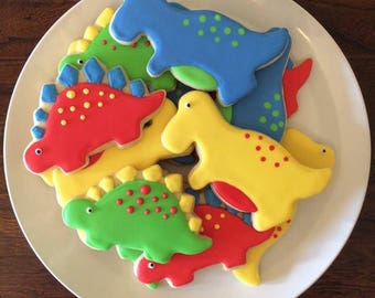One Dozen Dinosaur Sugar Cookies