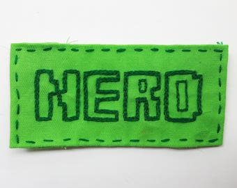 Hand embroidered patch. Nerd patch. Sew on patches for jackets. Nerdy gifts. Computer geek gift. Punk patches. Geekery. Best friend gift.