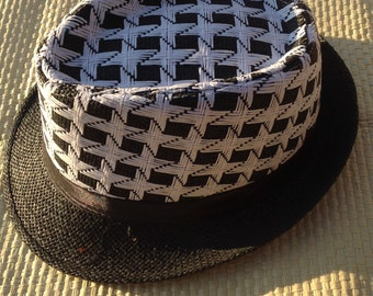 Fedora Hat..Black And White Color..