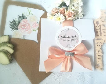 "Invitation cards ""Petra"", wedding invitation, paper animal, wedding"