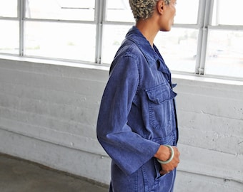 Indigo Cotton Coveralls