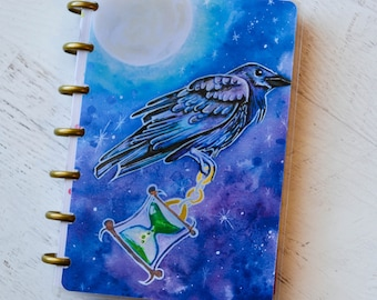 Happy Planner Mini Cover - Raven Planner Cover - Crow Art - Planner Mini Cover - Etsy Shop Planner Cover - Daily Schedule Accessories