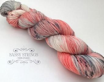 HAND DYED YARN / Sock Yarn / Superwash Merino / Indie Dyed Yarn / Pebbles