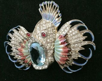 Rare Vintage CORO CRAFT FISH Pin/Brooch