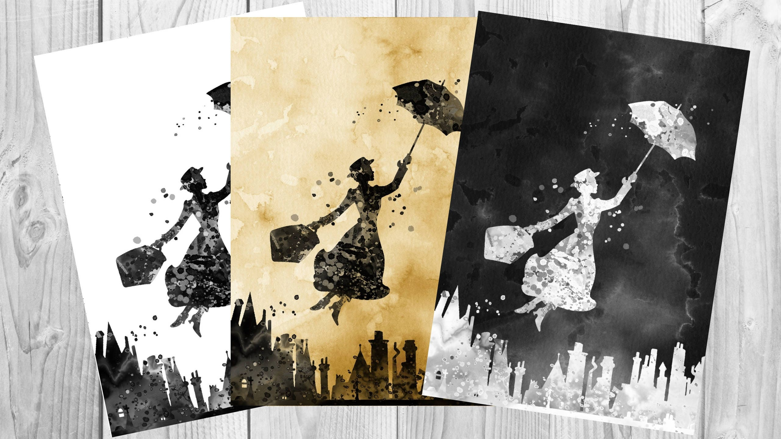 Mary Poppins Poster Art Print Wall Decor Instant Digital