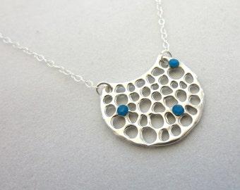 Funky Caribbean Blue Swarovski Necklace