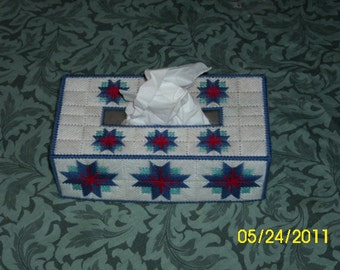 Blue Star Tissue Box Cover (FREE SHIPPING)