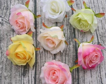 Silk flowers etsy bulk rose heads silk flowers roses wholesale 100 flowers 7 colors wedding flower supplies for cake mightylinksfo